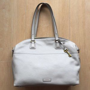 NWOT FOSSIL Leather Julia Shopper Tote in Mineral